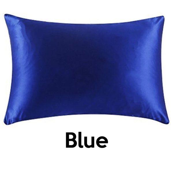 blue silk pillowcases