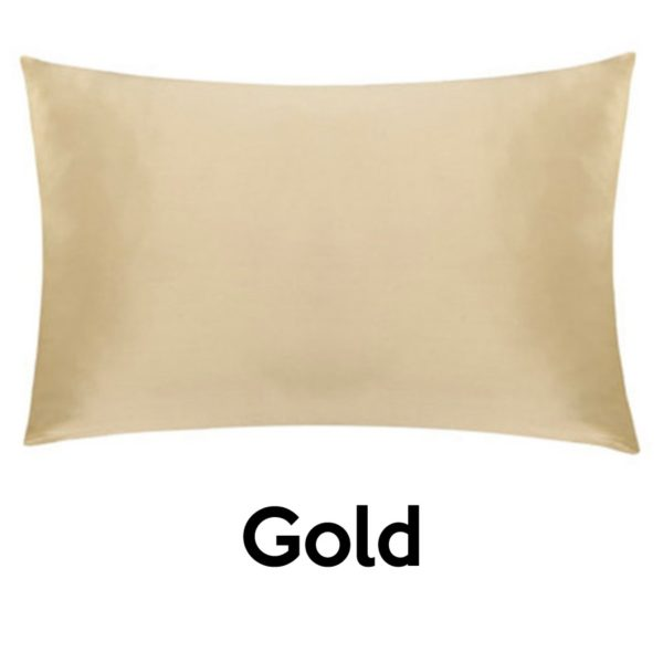 gold silk pillowcases