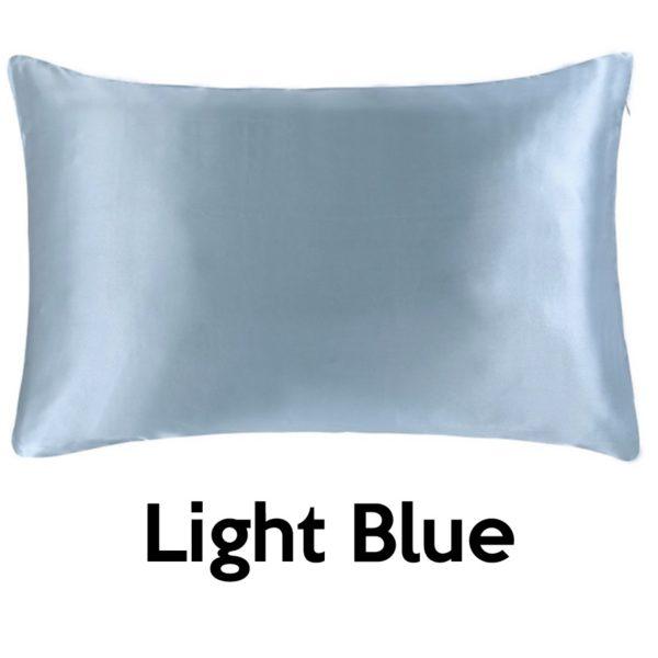 light blue silk pillowcases