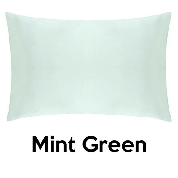 mint green silk pillowcases
