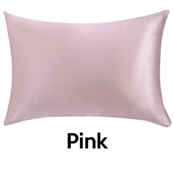 pink silk pillowcases