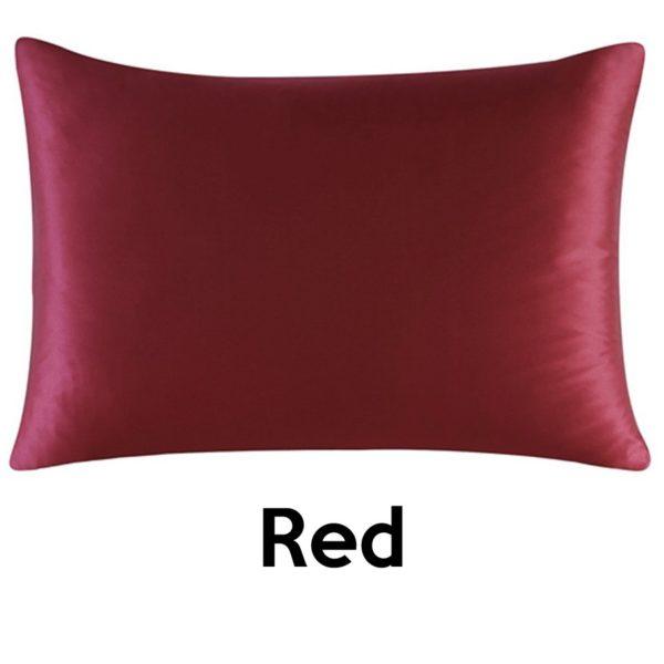 red silk pillowcases