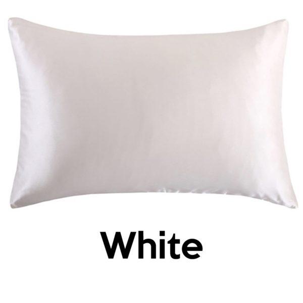 white silk pillowcases