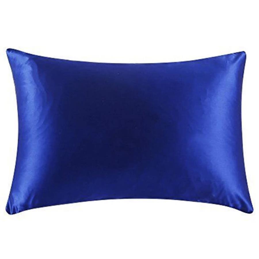 blue silk pillowcase