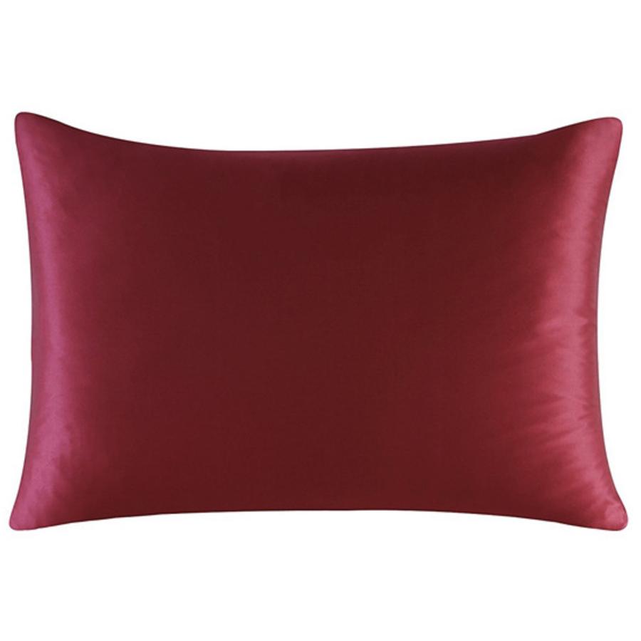 red silk pillowcase