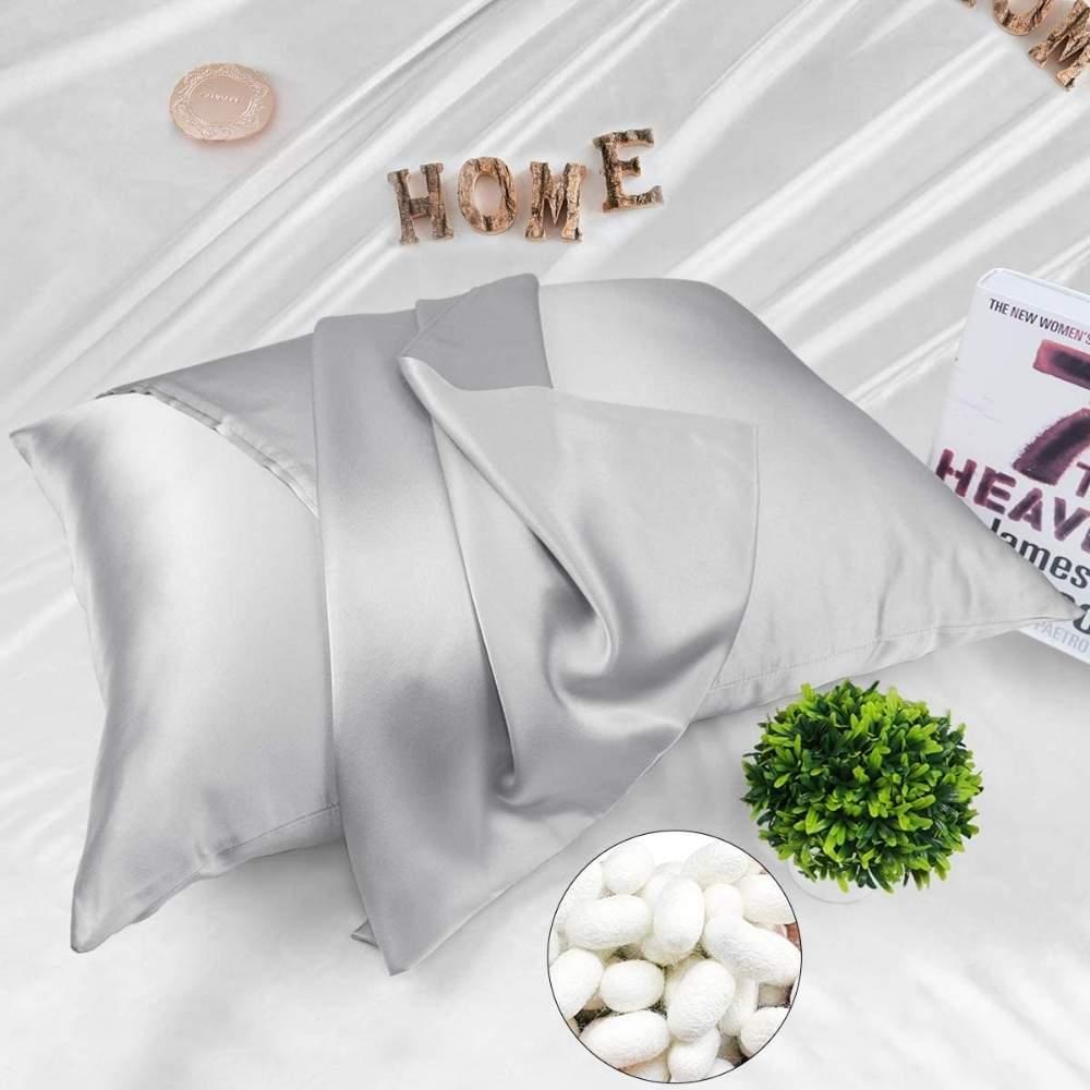 silver silk pillowcase buy online