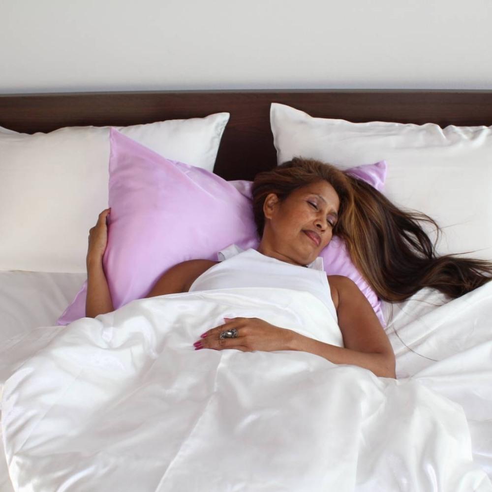 lavender mulberry silk pillowcase