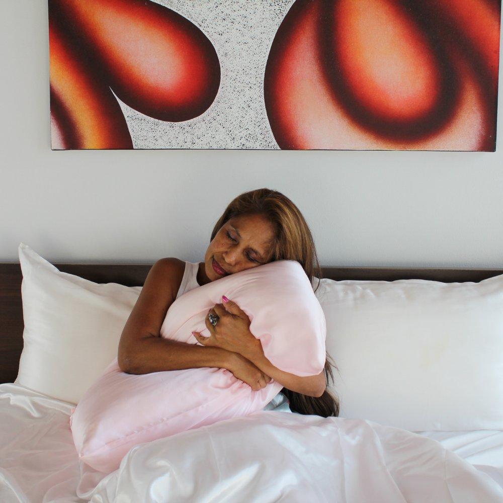 pink mulberry silk pillowcase