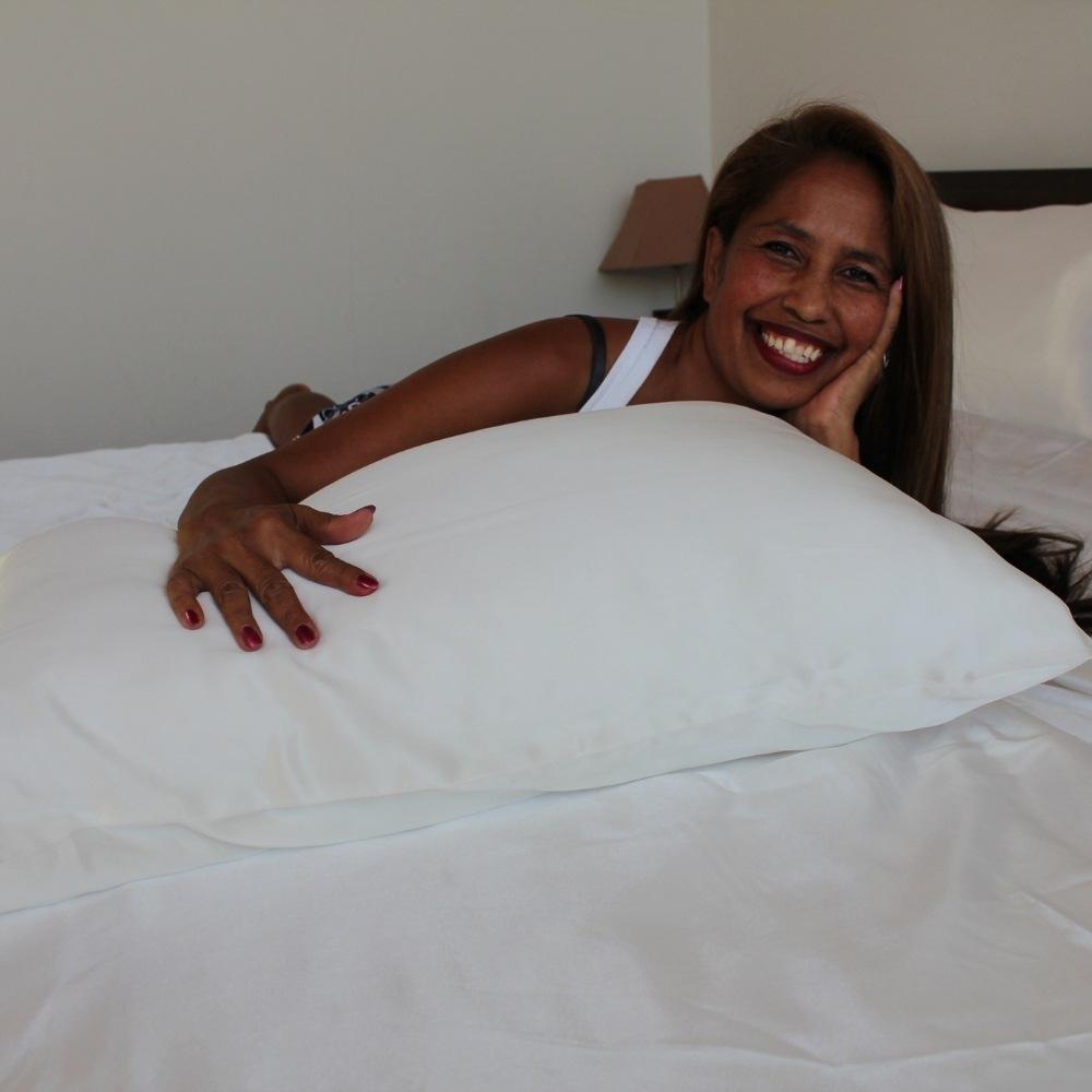 white mulberry silk pillowcases